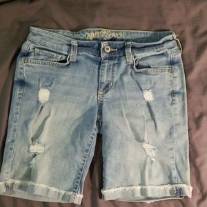Juniors Denim Deconstructed Shorts